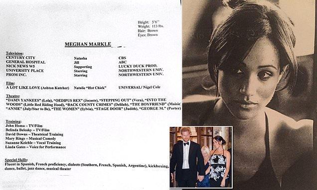 Meghan Markle's old résumé and headshot resurface online