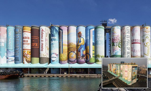 Artists painted South Korean grain silos into Guinness World Records