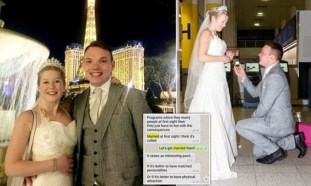 British couple wed in Las Vegas just days after meeting for first time