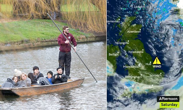 Britain is set for FOGGY and damp end to 2018 with mild 57F highs