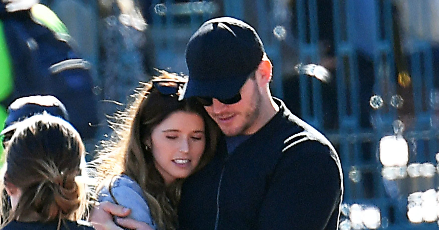 Chris Pratt and Katherine Schwarzenegger Hold Hands, Cuddle at Disneyland: Pics