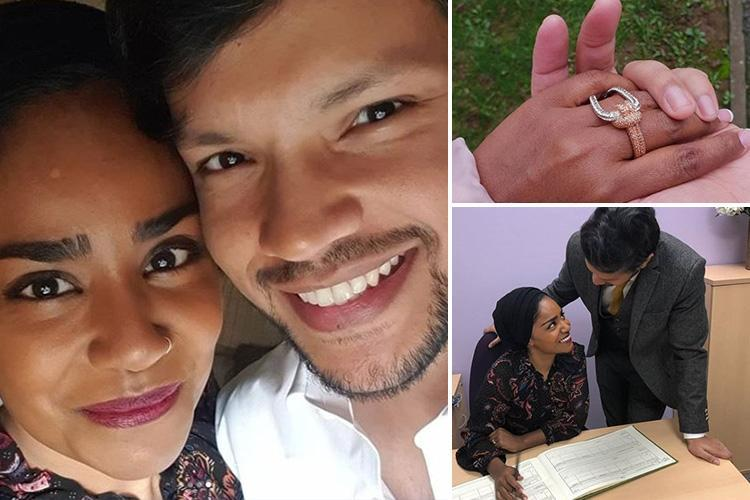 GBBO's Nadiya Hussain marries her husband again 14 years after their arranged marriage