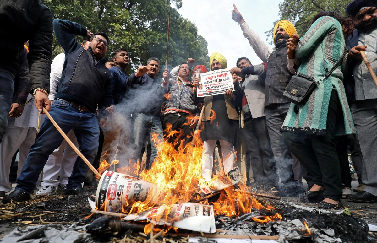 Indian opposition leader jailed for life over bloody anti-Sikh riots in 1984