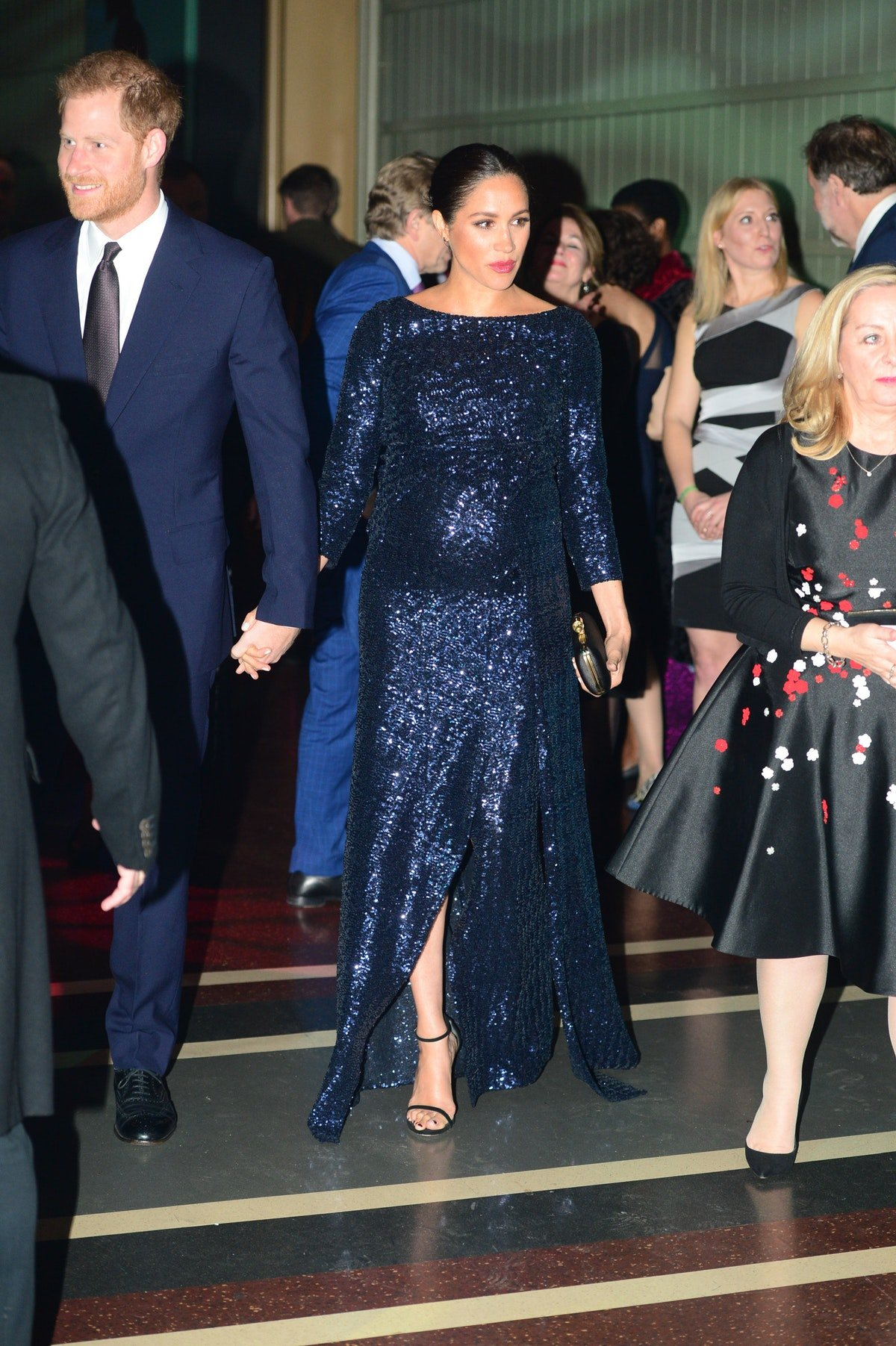 Meghan Markle Just Wore Head-To-Toe Sequins & She's TOTALLY A Queen