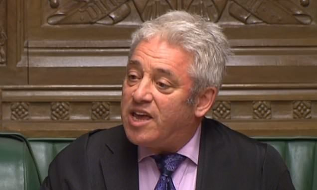 John Bercow must reveal when he will step down as Speaker, MP says
