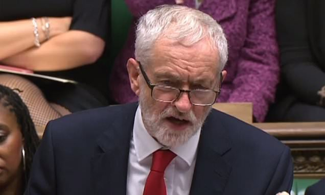 Corbyn says 'zombie Government' has lost its right to run the country