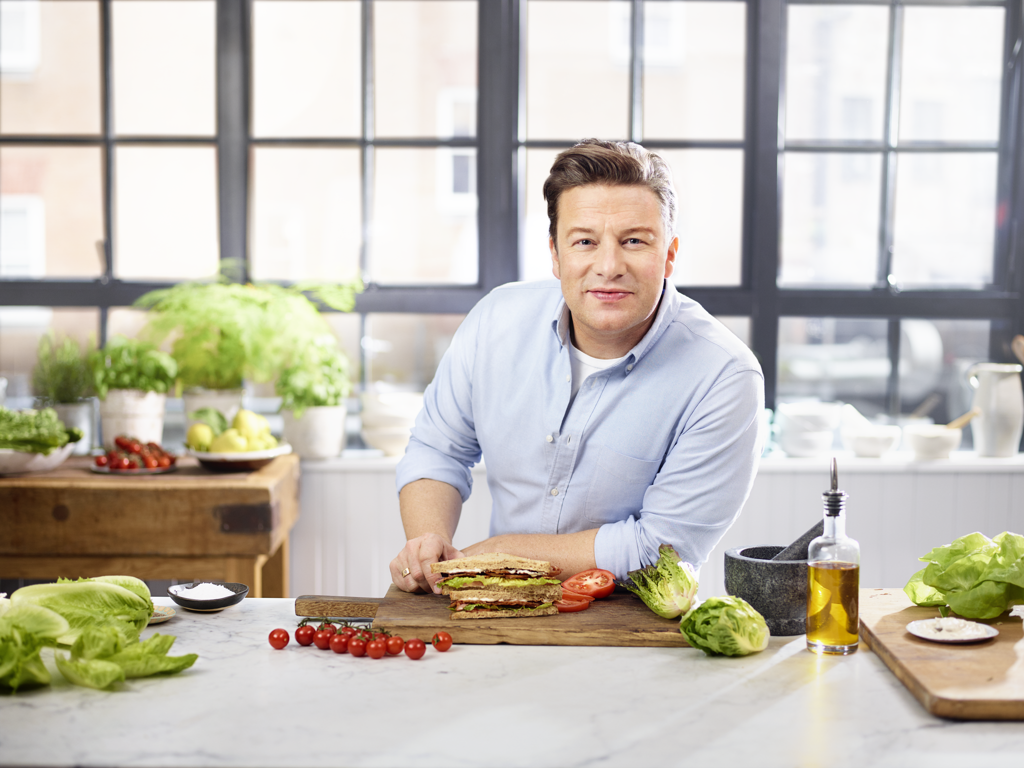Jamie Oliver is launching a new range of healthy wraps and sandwiches to be sold at Shell petrol garages