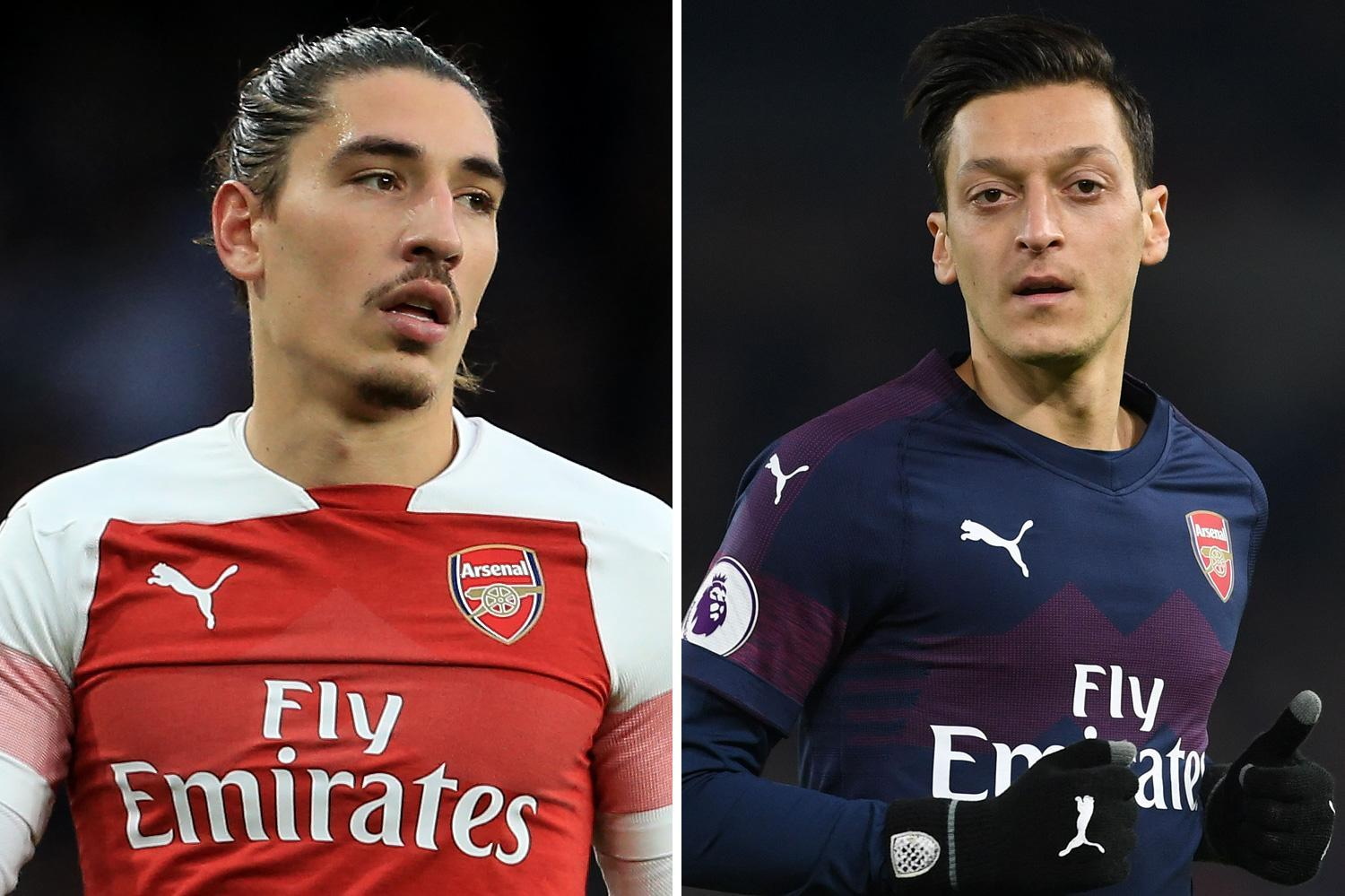 Arsenal injury boost as SIX first-team stars return to training ahead of West Ham including Mesut Ozil and Hector Bellerin