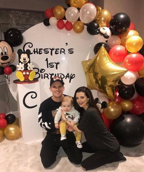 Gaz Beadle and Emma McVey celebrate son Chester's first birthday with Disney-themed party