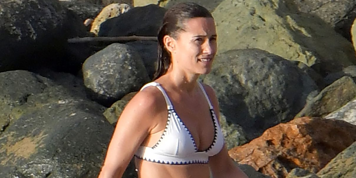 Pippa Middleton Just Wore the Cutest White Bikini in St. Barts