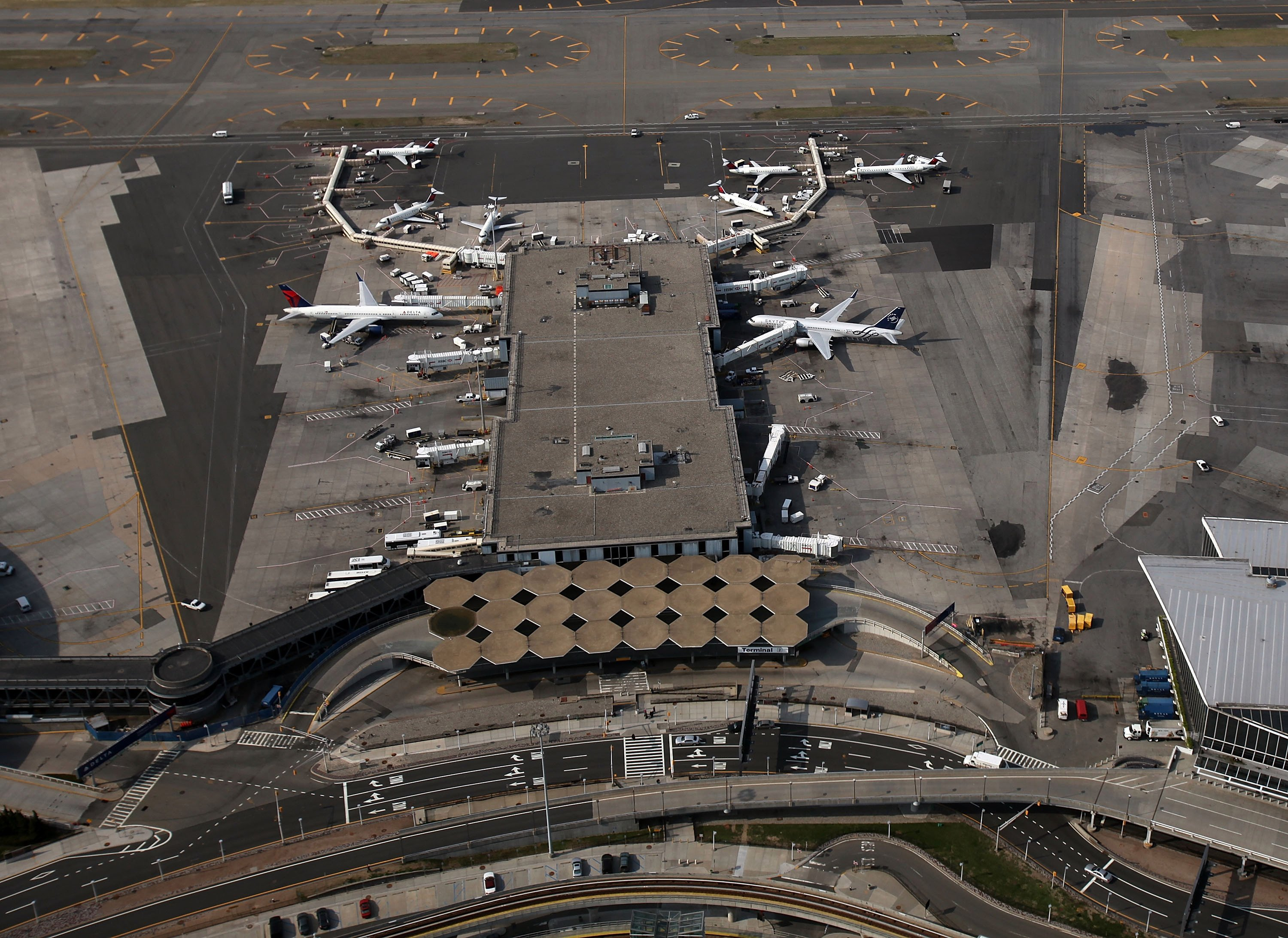 Flight chaos across America as major airports including JFK, La Guardia and Florida CLOSE over government shut down
