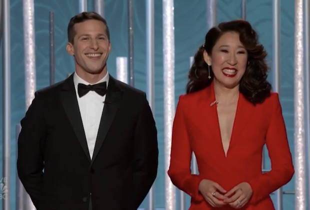Golden Globes 2019: Sandra Oh and Andy Samberg's Opening Monologue — Grade It!
