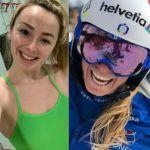 Freya Anderson, Marta Bassino and Ellen Keane compete around country