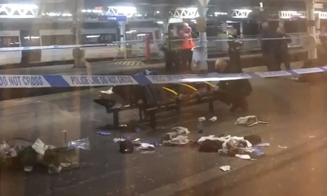 Horror as man is stabbed on a Tube train at east London station