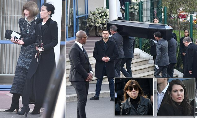 Fashion community gathers to see Karl Lagerfeld cremated