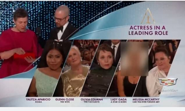 Chinese TV station cuts out Lady Gaga during Oscars ceremony