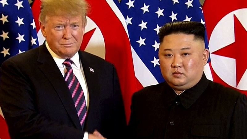 Kim Jong-un hopes for success 'this time' as second summit starts with Donald Trump