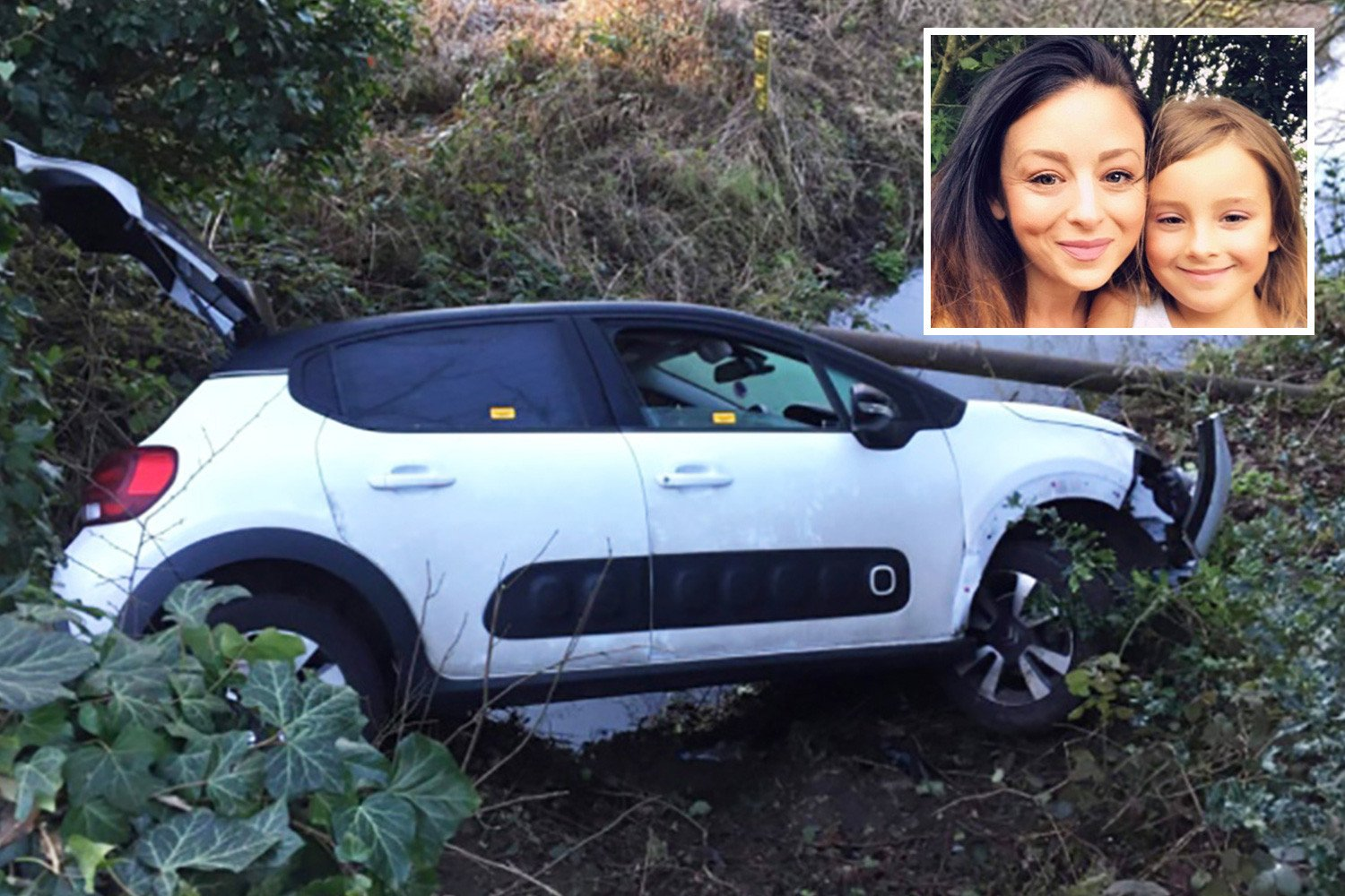Mum and daughter, 7, rescued from horror car crash when boy tracked them down on Snapchat