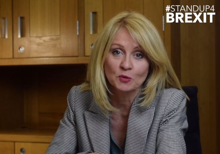 Remainer MPs are 'desperate' to reverse Brexit and kill off PM's leverage by ruling out No Deal, top Brexiteer Esther McVey blasts