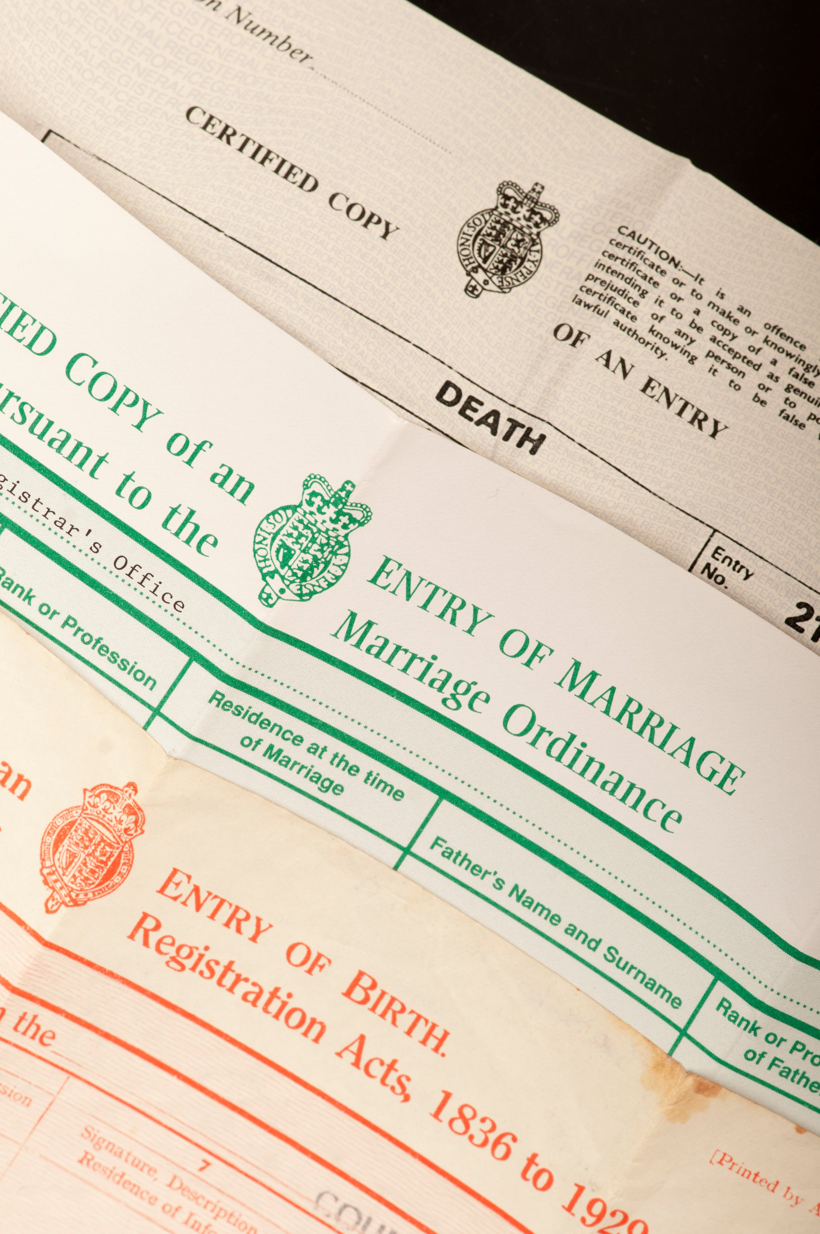 Cost of marriage, birth and death certificates to triple to £11 each