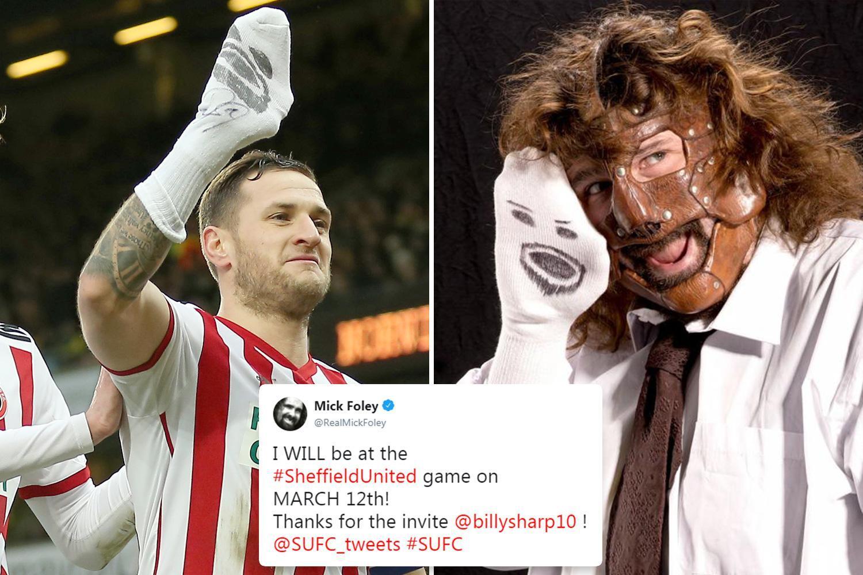 WWE legend Mick Foley to meet Billy Sharp at Sheff Utd game after celebration