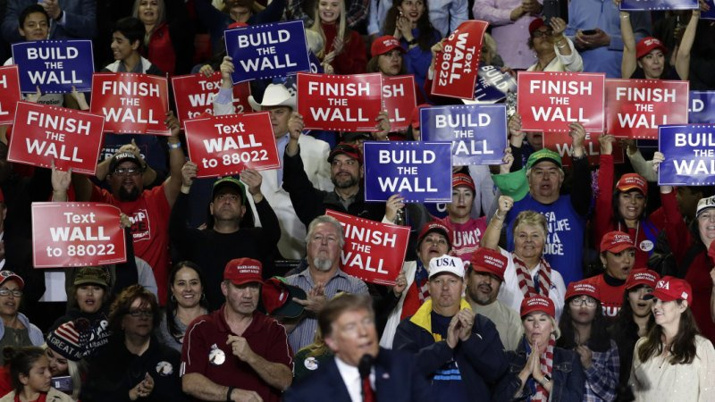 'A lot of people here hate him': Deep in enemy territory, Trump sells his wall