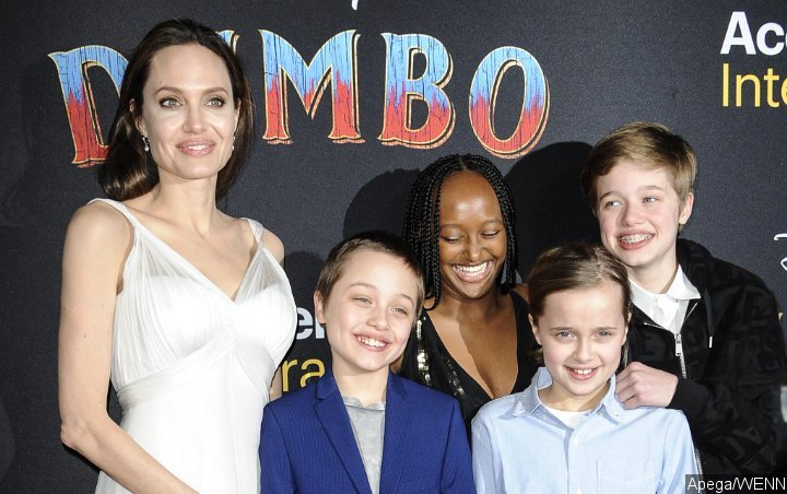 Photos: Angelina Jolie and Kids Stun Fellow Guests at 'Dumbo' World Premiere