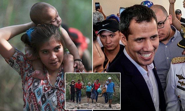 Venezuelans defy border blockade as Juan Guaido calls for protests