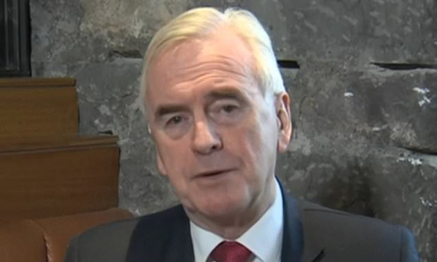 Labour's soft Brexit deal could be agreed 'in weeks' McDonnell claims
