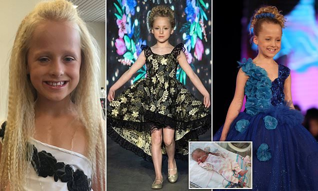 Girl, 8, who had life saving open-heart surgery aged 2, overc