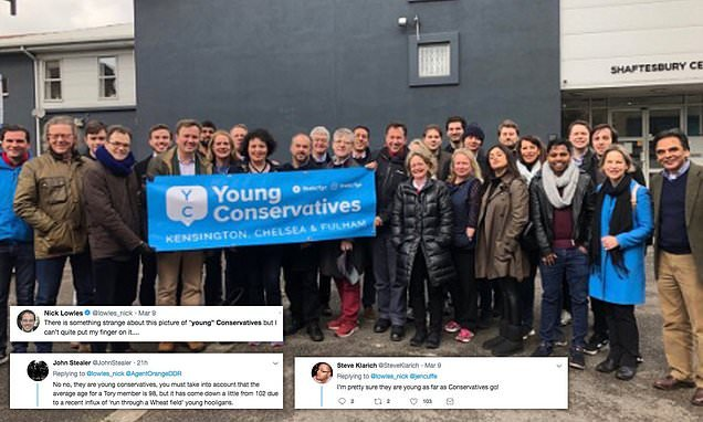 Middle aged Tories claim to be 'Young Conservatives' in online photo