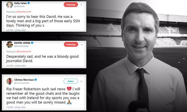 Sky Sports News presenter Fraser Robertson passes away