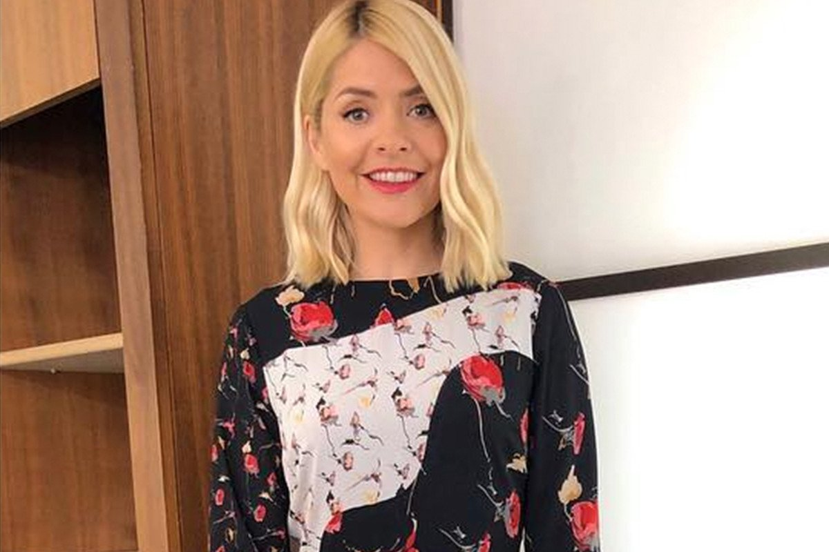 Holly Willoughby looks blooming lovely in floral Reiss mini dress on This Morning