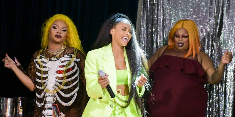 Ciara Crashed Miss Vanjie's Drag Race Viewing Party and The Crowd Went Wild