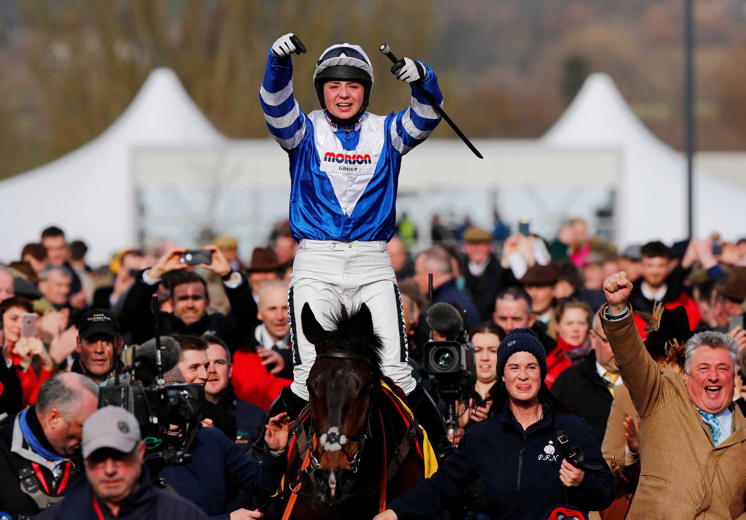 Cheltenham Festival 2019: Bryony Frost lifts Frodon home to win the Ryanair Chase