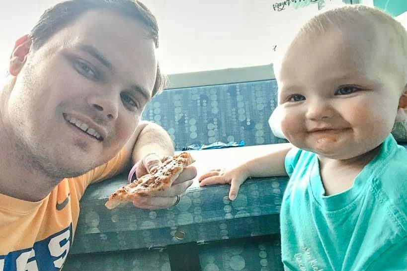 Desperate dad pleads with teacher colleagues to donate their sick days so he can spend time with his cancer-stricken baby