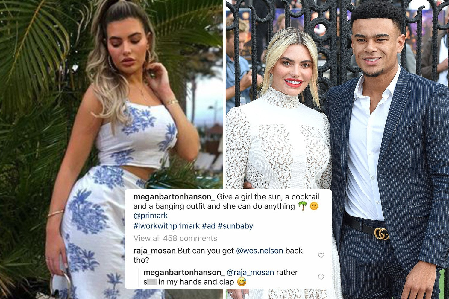 Megan Barton-Hanson claims she'd rather 's**t in her own hand' than get back with ex Wes Nelson
