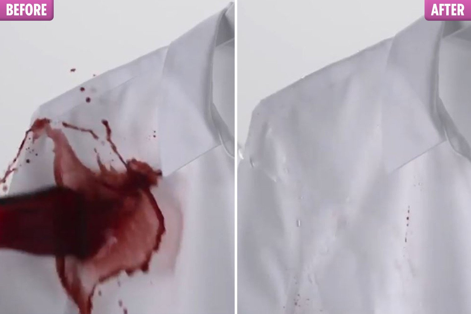 Shirt that 'never stains' means you no longer have to fear spilling red wine and coffee