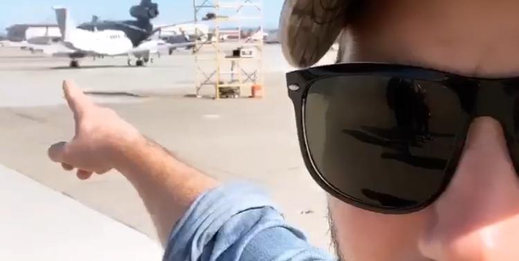 Chris Pratt at an Air Show? Chris Pratt at an Air Show.