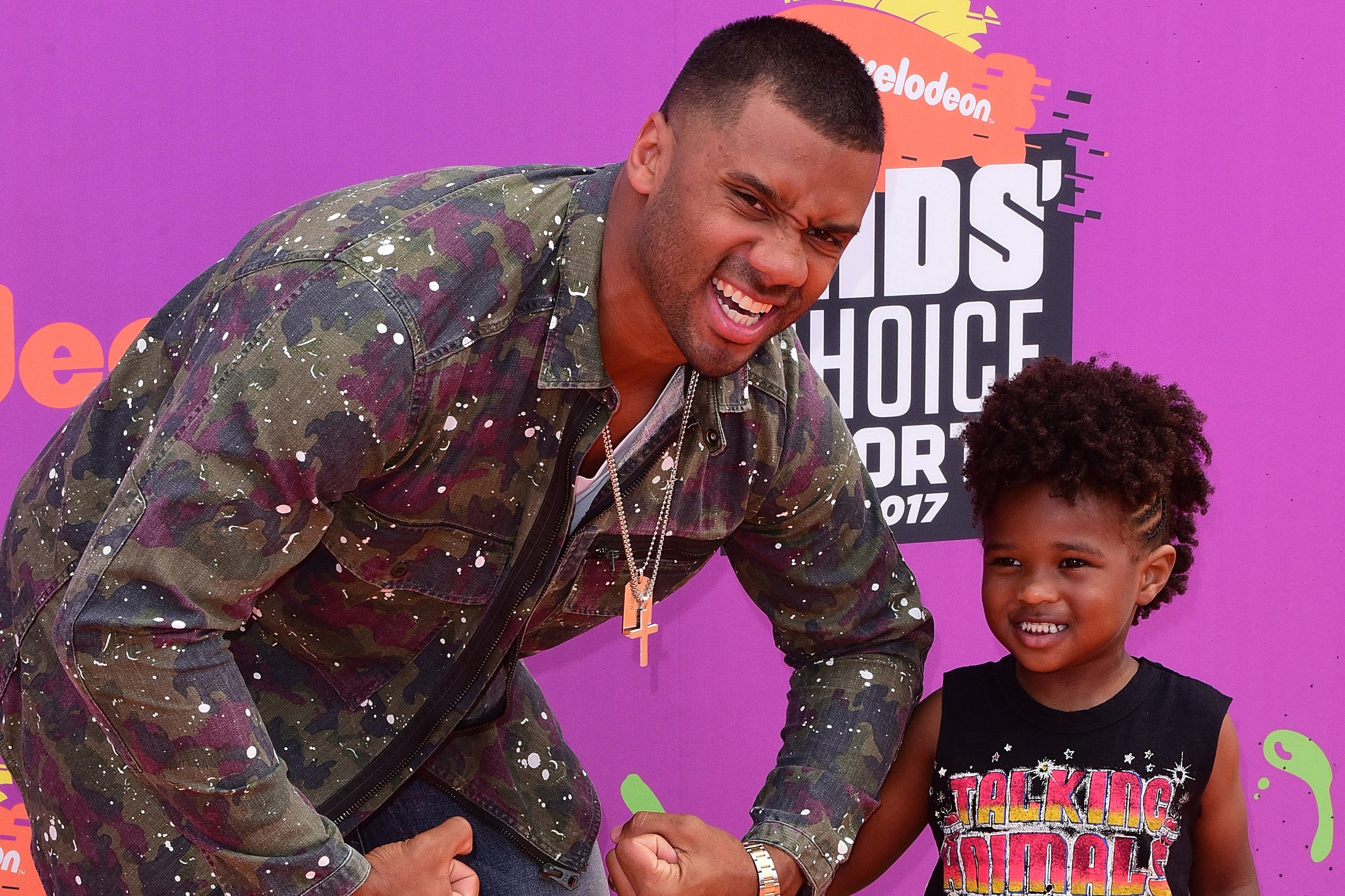 Russell Wilson says love is key to raising a blended family