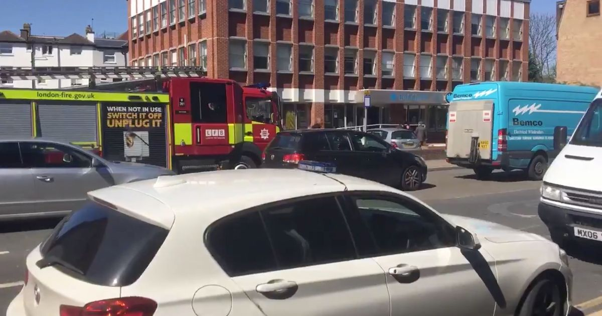 Four people in hospital after 'chemical smell' at HSBC bank
