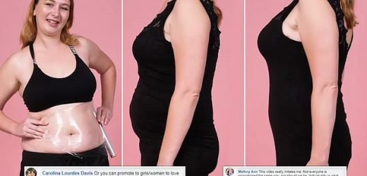 'Chubby girl' clothing clingfilm hack is slammed