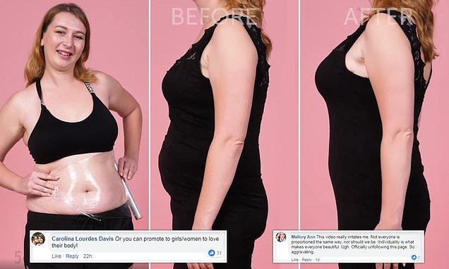 'Chubby girl' clothing clingfilm hack is slammed