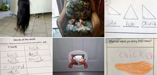 Photo gallery proves kids do the funniest things
