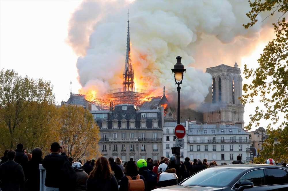 Witnesses flock to social media as flames consume Notre Dame cathedral