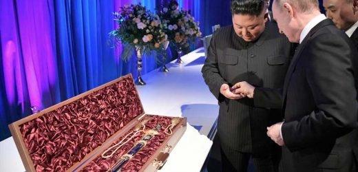 Kim Jong Un, Vladimir Putin exchange swords as dueling gifts