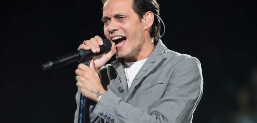 Marc Anthony flocked by models as he yachts in Miami