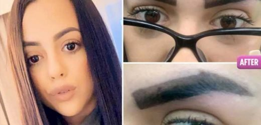 Mum-to-be reduced to tears after beauty salon gives her eyebrows 'a blindfolded four-year-old could have done better'