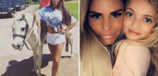 Katie Price reveals daughter Princess is so embarrassed about her dress sense she's banned from picking her up from school
