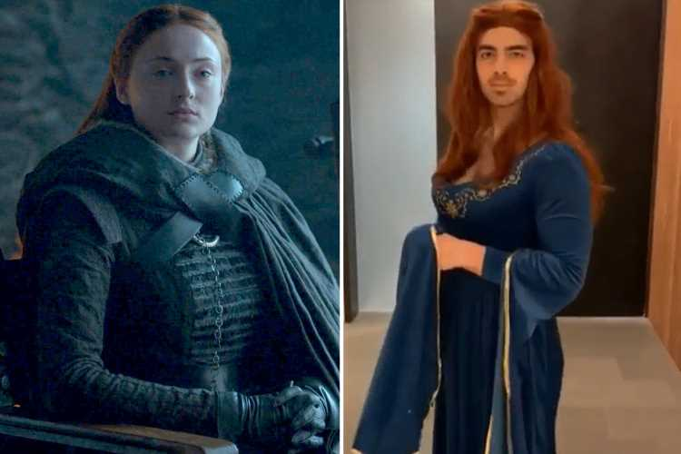 Joe Jonas transforms into fiance Sophie Turner's Game Of Thrones character to celebrate launch of season eight